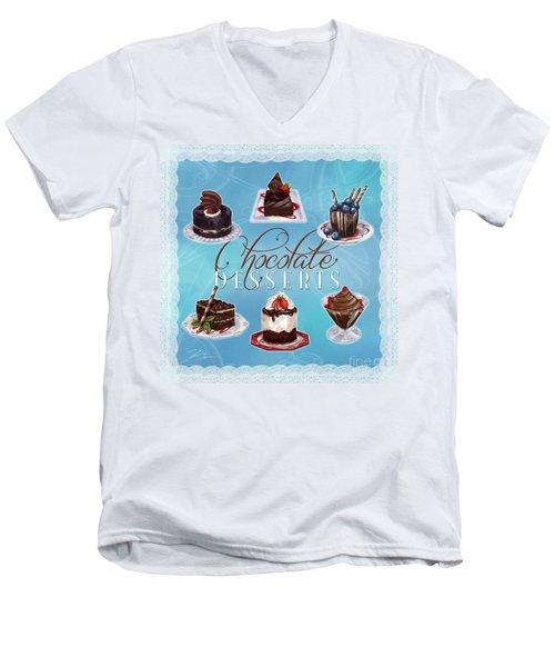 Chocolate Desserts Men's V-Neck T-Shirt