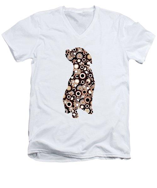 Chocolate Lab - Animal Art Men's V-Neck T-Shirt