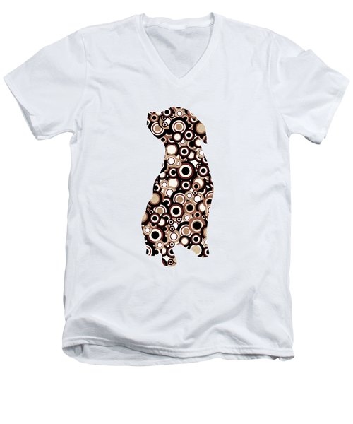 Chocolate Lab - Animal Art Men's V-Neck T-Shirt