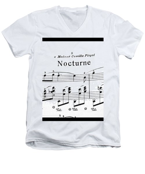 Chopin Nocturne Part 2 Men's V-Neck T-Shirt