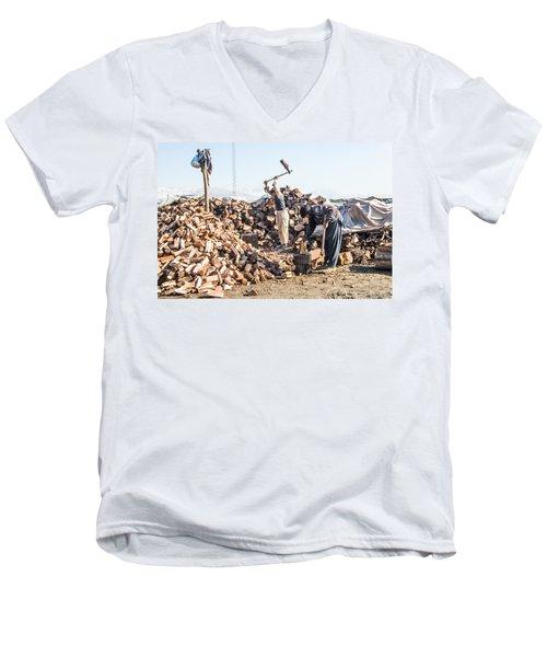 Chopping Wood Men's V-Neck T-Shirt