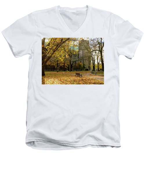 Christchurch Cathedral Men's V-Neck T-Shirt by Keith Boone