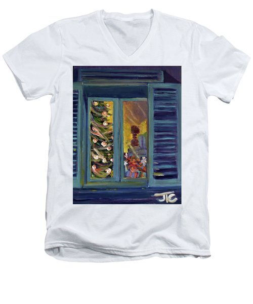 Christmas 2016 Men's V-Neck T-Shirt by Julie Todd-Cundiff