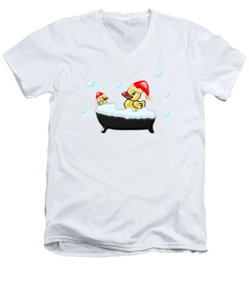 Christmas Ducks Men's V-Neck T-Shirt