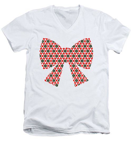 Christmas Paper Pattern Men's V-Neck T-Shirt