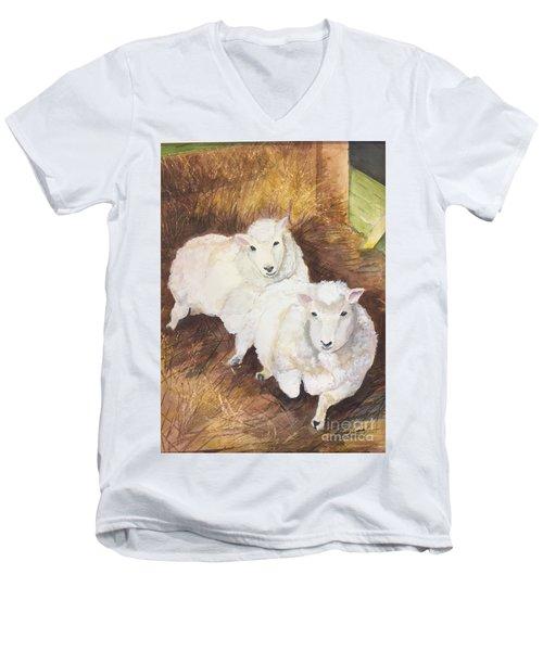 Christmas Sheep Men's V-Neck T-Shirt
