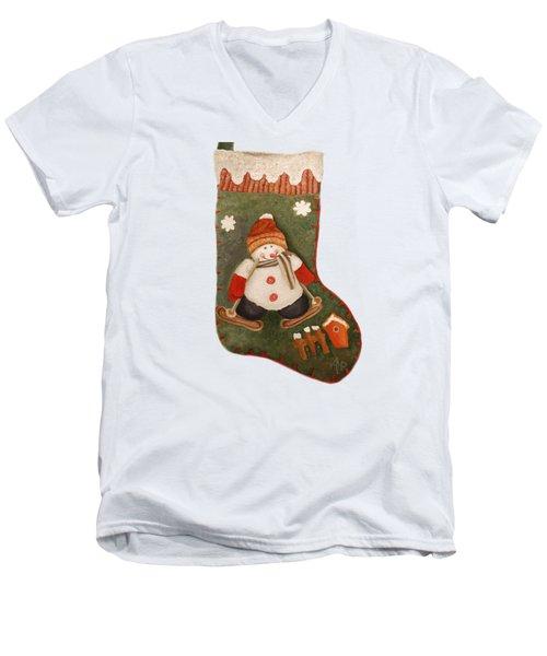 Christmas Stocking Men's V-Neck T-Shirt