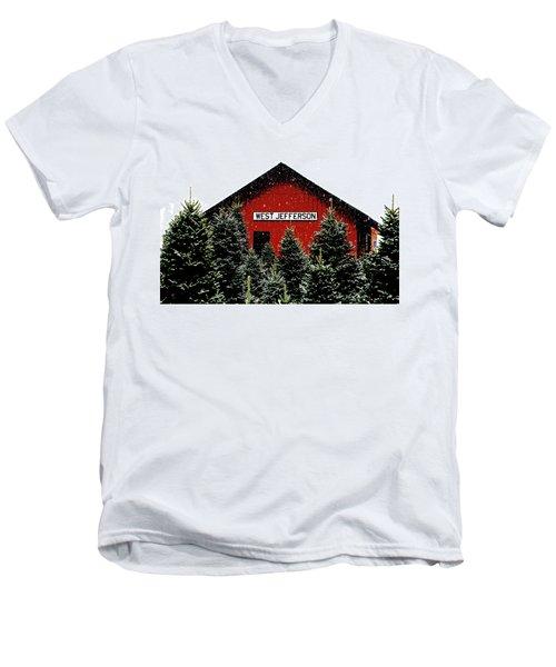 Christmas Town Men's V-Neck T-Shirt