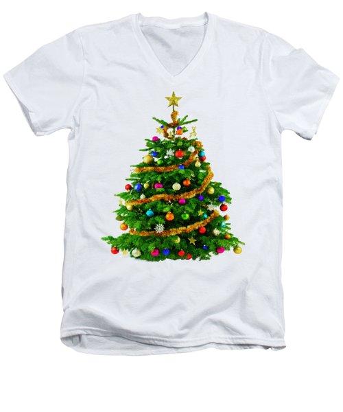 Christmas Tree 1417 Men's V-Neck T-Shirt
