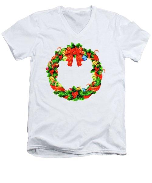 Christmas Wreath Men's V-Neck T-Shirt