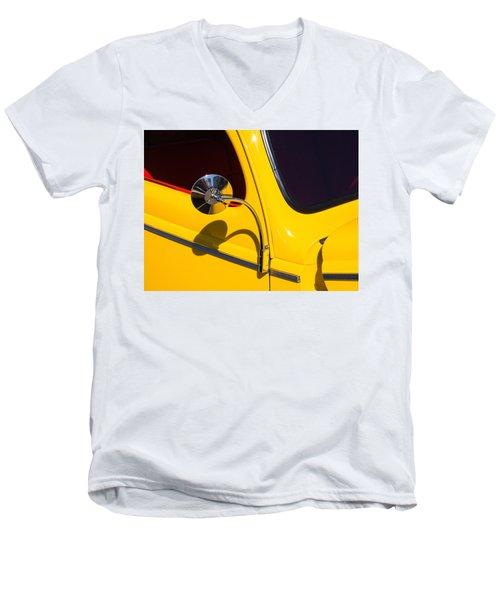 Chrome Mirrored To Yellow Men's V-Neck T-Shirt