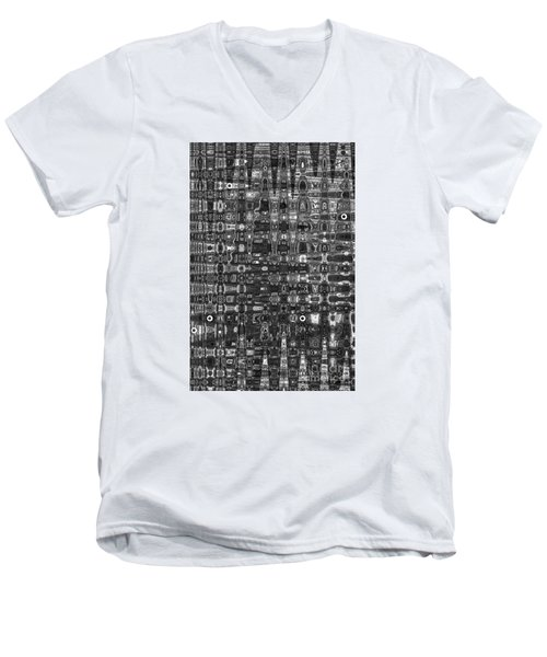 Men's V-Neck T-Shirt featuring the photograph Chromosome 22 Bw by Diane E Berry