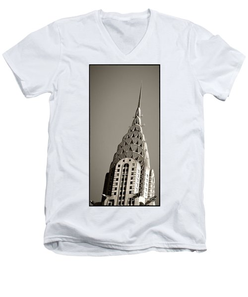 Men's V-Neck T-Shirt featuring the photograph Chrysler Building New York City by Juergen Held