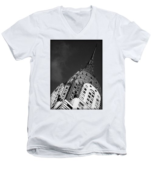 Chrysler Building's Apex Men's V-Neck T-Shirt