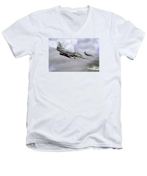 Chu Lai Skyhawks Men's V-Neck T-Shirt by Peter Chilelli