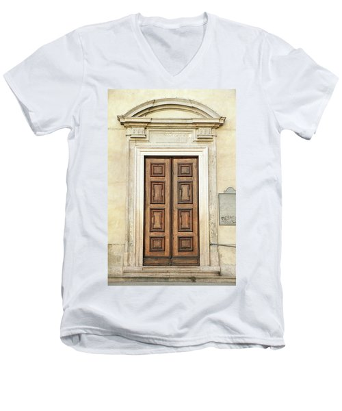 Church Door Men's V-Neck T-Shirt