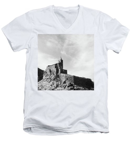 Church Of San Pietro II Men's V-Neck T-Shirt by Joseph Westrupp