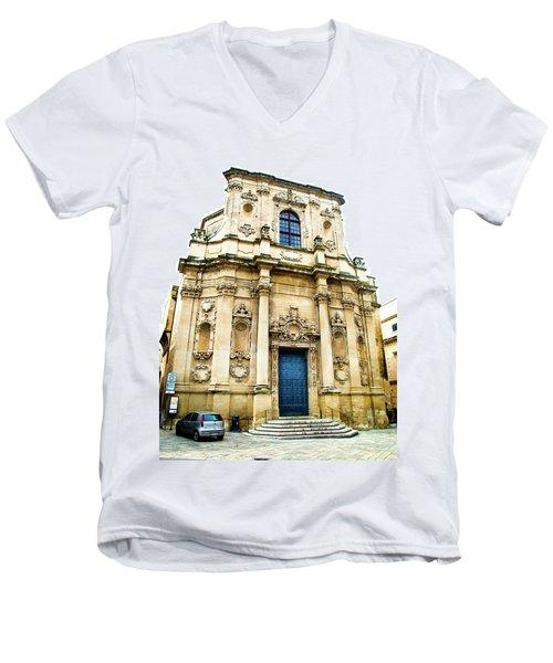 Church Of St Chiari Men's V-Neck T-Shirt