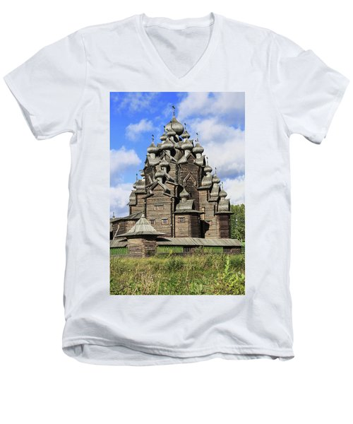 Church Of The Intercession Of The Blessed Virgin Mary, A Unique Monument Of Church Architecture Of A Men's V-Neck T-Shirt