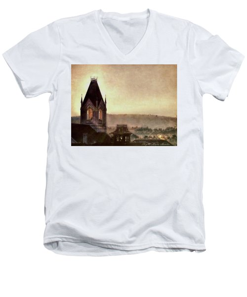 Church Steeple 4 For Cup Men's V-Neck T-Shirt