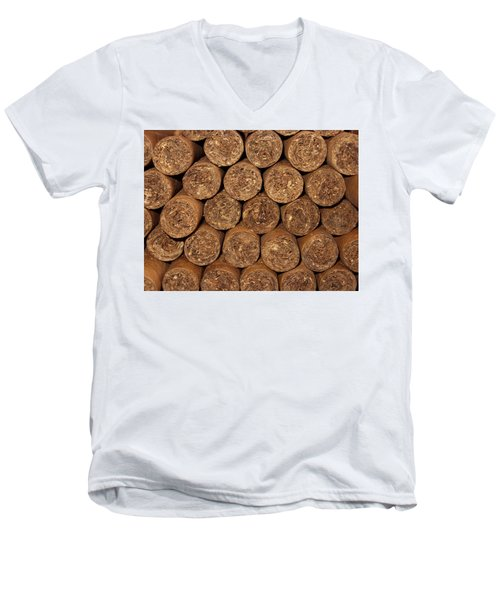 Cigars 262 Men's V-Neck T-Shirt by Michael Fryd