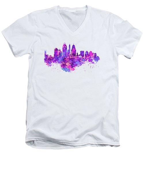 Cincinnati Skyline Men's V-Neck T-Shirt