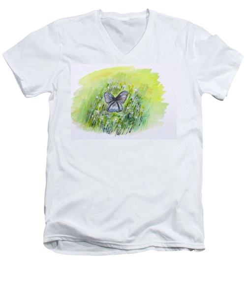 Cindy's Butterfly Men's V-Neck T-Shirt