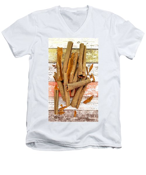 Cinnamon Bark Men's V-Neck T-Shirt