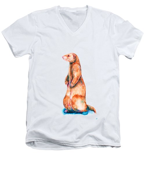 Cinnamon Ferret Men's V-Neck T-Shirt