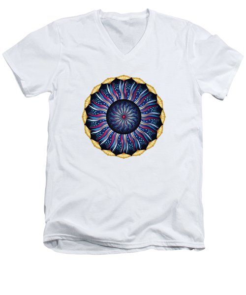Circularium No 2633 Men's V-Neck T-Shirt
