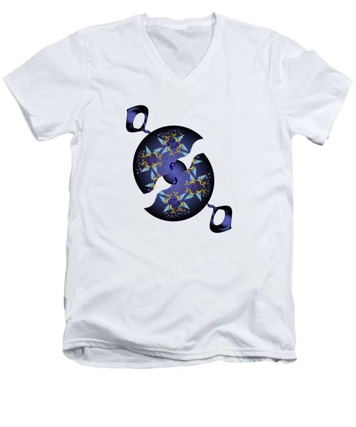 Circularium No 2634 Men's V-Neck T-Shirt