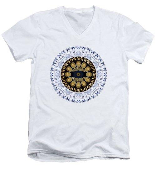 Circularium No 2638 Men's V-Neck T-Shirt