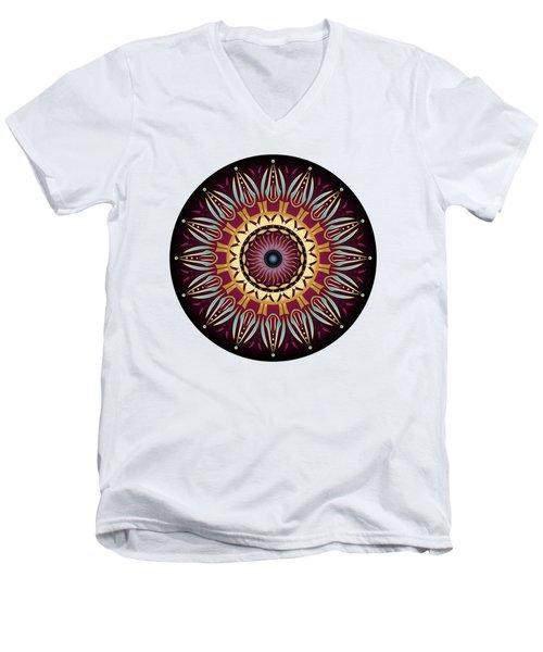 Men's V-Neck T-Shirt featuring the digital art Circularium No 2639 by Alan Bennington