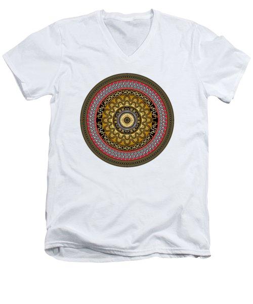 Circularium No. 2644 Men's V-Neck T-Shirt