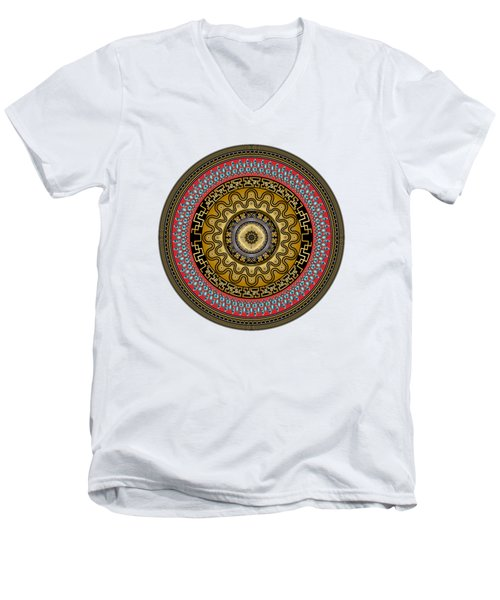 Circularium No. 2644 Men's V-Neck T-Shirt