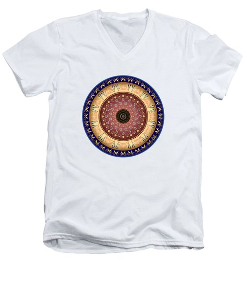 Circularium No 2647 Men's V-Neck T-Shirt