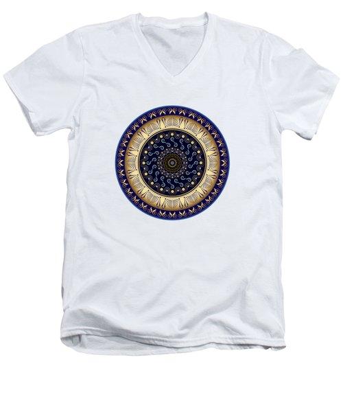 Circularium No 2648 Men's V-Neck T-Shirt