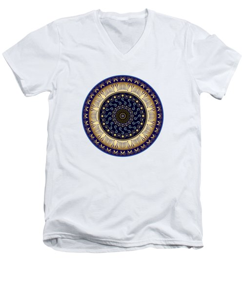Circularium No 2648 Men's V-Neck T-Shirt