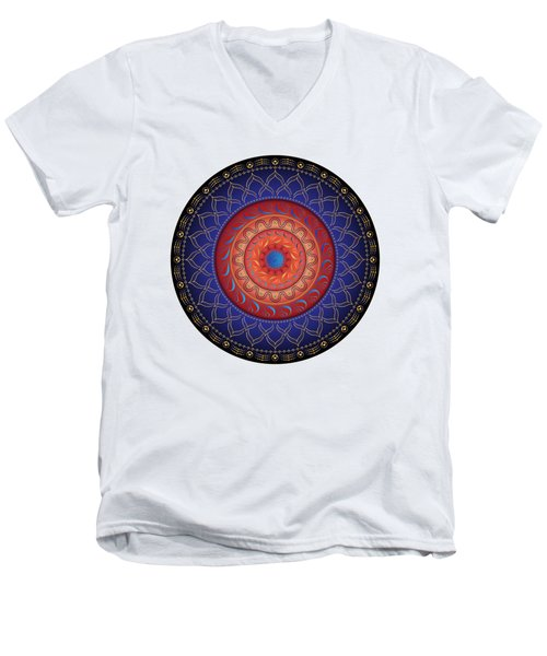Circularium No 2654 Men's V-Neck T-Shirt