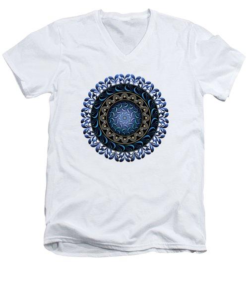 Men's V-Neck T-Shirt featuring the digital art Circularium No 2657 by Alan Bennington