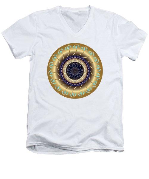Circularium No 2708 Men's V-Neck T-Shirt by Alan Bennington