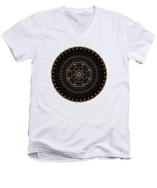 Circularium No 2713 Men's V-Neck T-Shirt by Alan Bennington