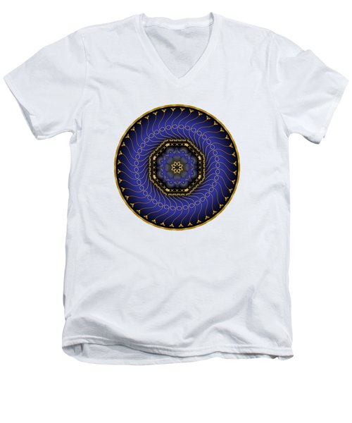 Circularium No 2714 Men's V-Neck T-Shirt by Alan Bennington