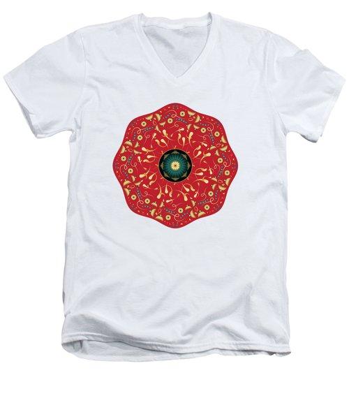 Circularium No. 2736 Men's V-Neck T-Shirt