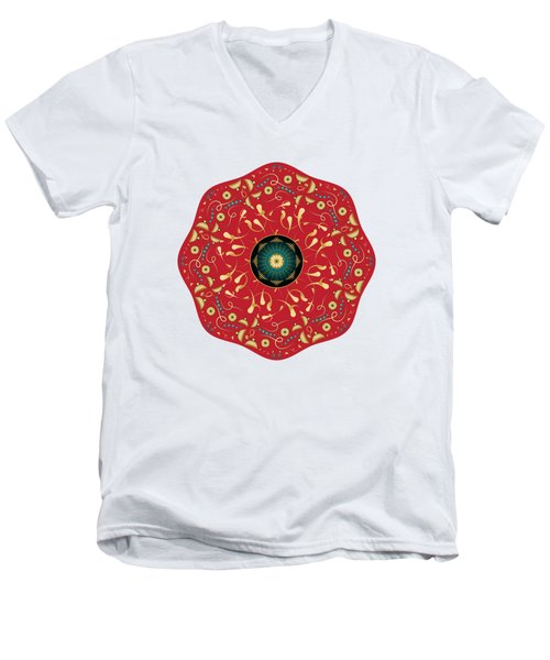 Circularium No. 2736 Men's V-Neck T-Shirt