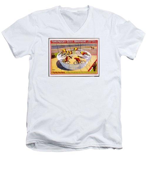 Circus Life Men's V-Neck T-Shirt by Allen Beilschmidt