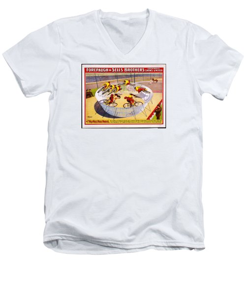 Men's V-Neck T-Shirt featuring the photograph Circus Life by Allen Beilschmidt