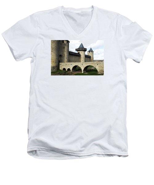 Citie De Carcassone Men's V-Neck T-Shirt