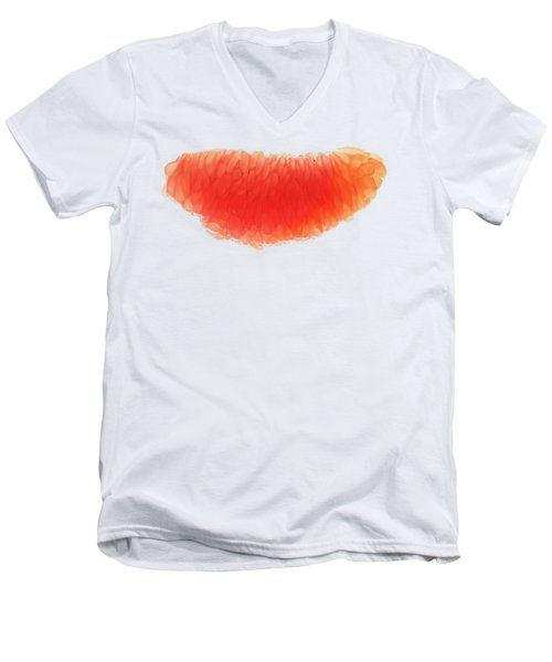 Citrus Smile Men's V-Neck T-Shirt by Sverre Andreas Fekjan