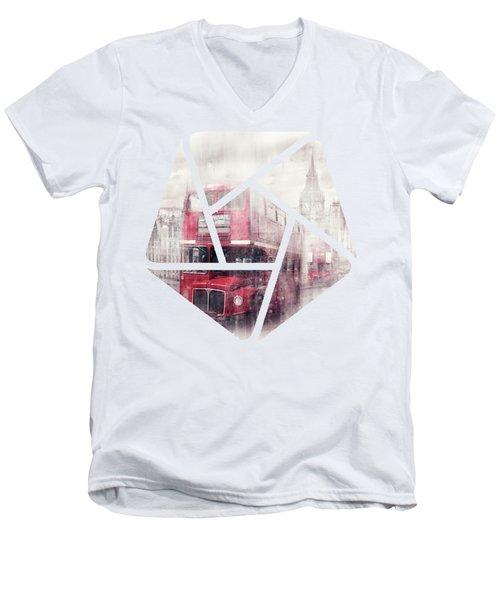 City-art London Westminster Collage II Men's V-Neck T-Shirt